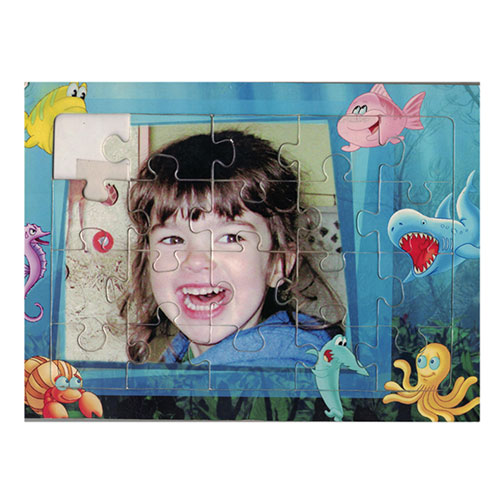 Детски пъзел със снимка и рамка-20 части и размери 27х20 см