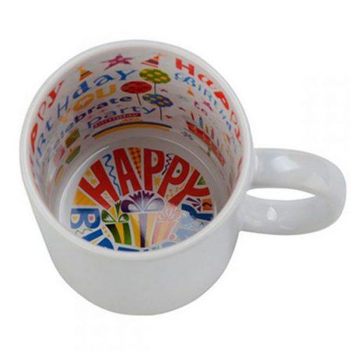 Чаша с вътрешност Рожден ден по Ваш дизайн