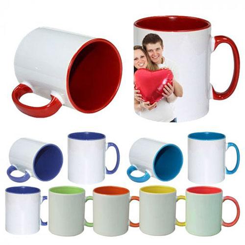 Чаша с цветна дръжка и вътрешност по Ваш дизайн