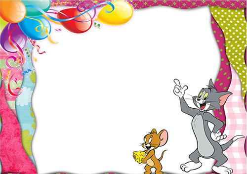Детска покана Том и Джери
