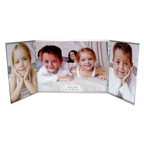 Метална фото рамка за 2 вертикални снимки и 1 хоризонтална снимка