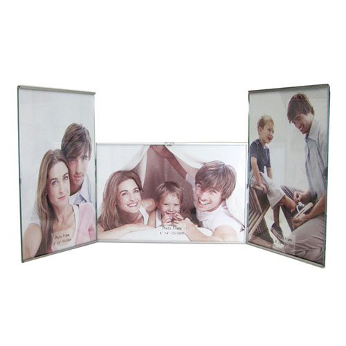 Метална фото рамка за 3 снимки-2 вертикални снимки и 1 хоризонтална снимка