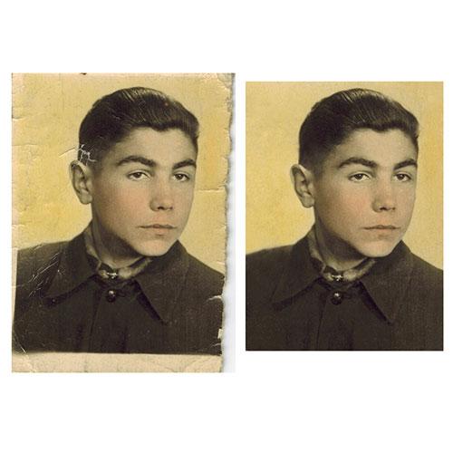 Реставриране на малко увредена снимка