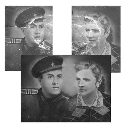 Реставриране на силно увредена снимка