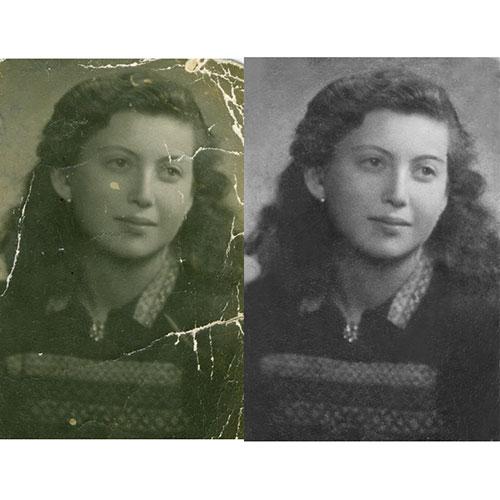 Реставриране на средно увредена снимка